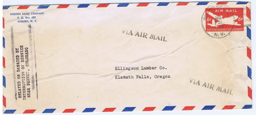 1955 Postal Incident - Bomb on Plane