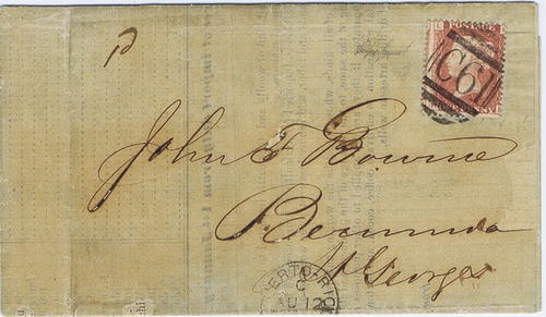 1874 Great Britain used in Puerto Rica