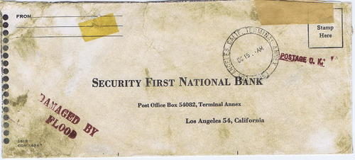 1963 Flood Damaged Mail